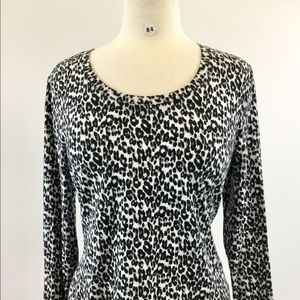 Rafaella Animal LongSleeve Shirt Size PM (B-84)
